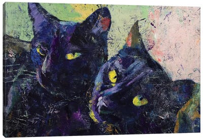 Black Cats Canvas Art Print