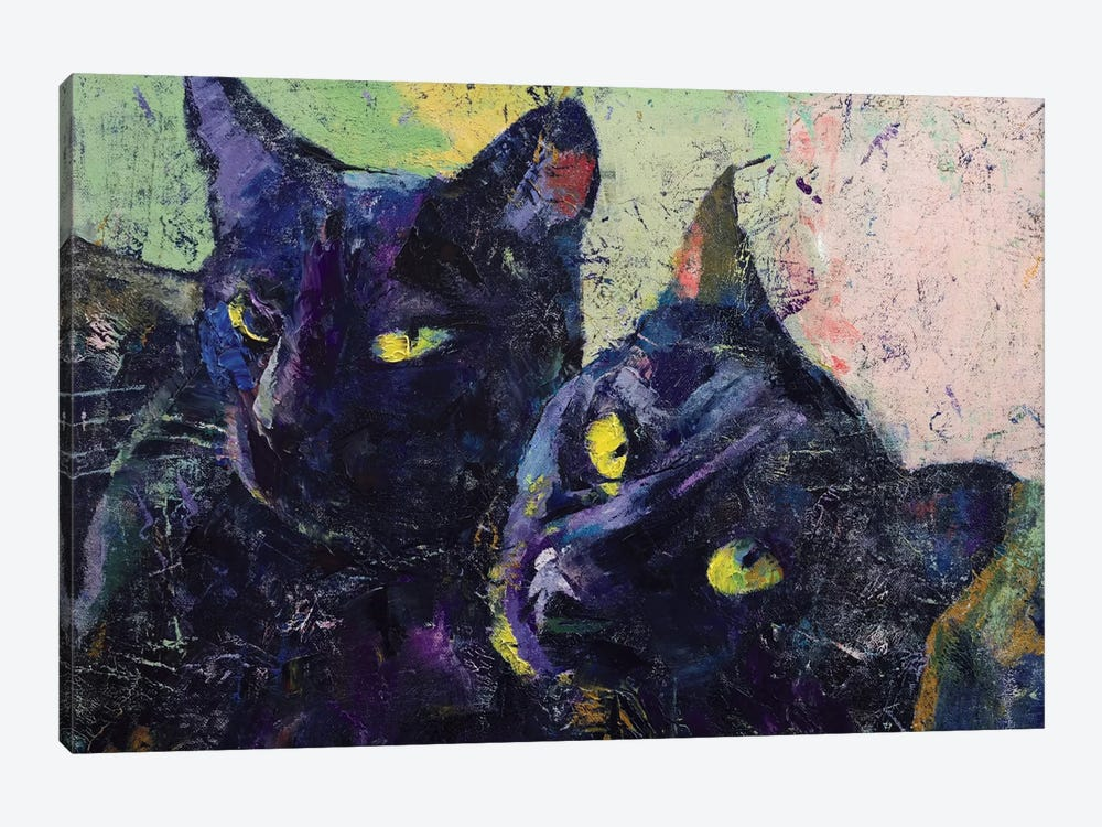 Black Cats by Michael Creese 1-piece Canvas Artwork