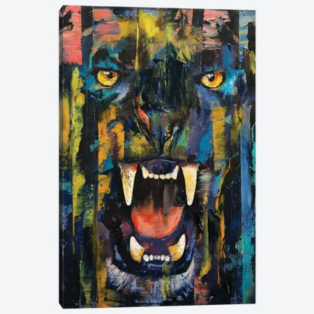 Black Panther  Canvas Print #MCR171} by Michael Creese Canvas Print