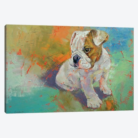 Bulldog Puppy  Canvas Print #MCR173} by Michael Creese Canvas Art Print
