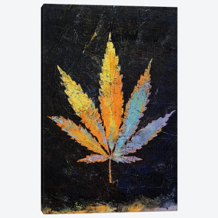 Cannabis  Canvas Print #MCR174} by Michael Creese Canvas Artwork
