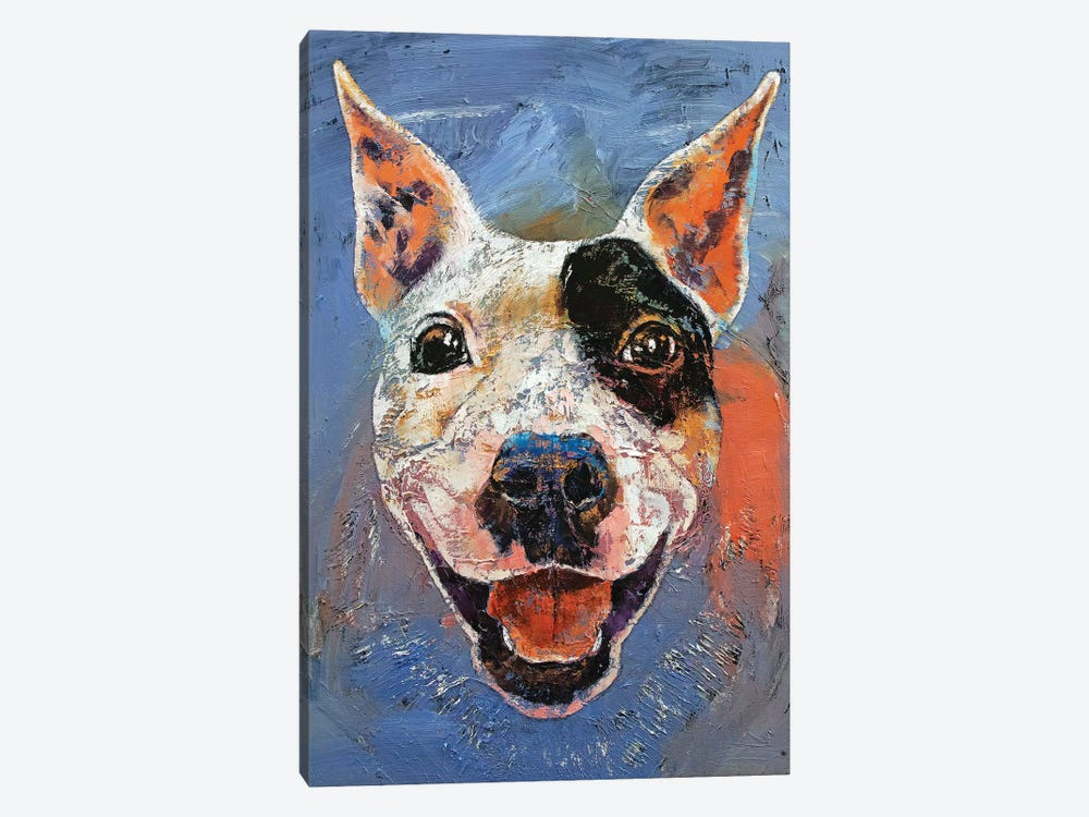 Happy Pitbull  1-piece Canvas Art