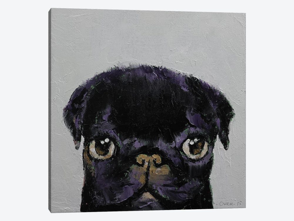 Black Pug by Michael Creese 1-piece Canvas Art