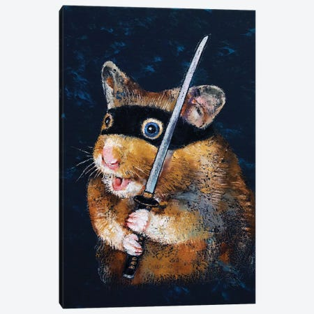 Ninja Hamster  Canvas Print #MCR190} by Michael Creese Canvas Art Print