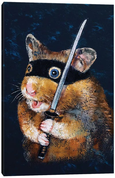 Ninja Hamster  Canvas Art Print