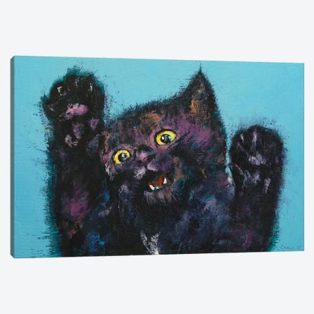 Ninja Kitten  Canvas Print #MCR191} by Michael Creese Canvas Art Print
