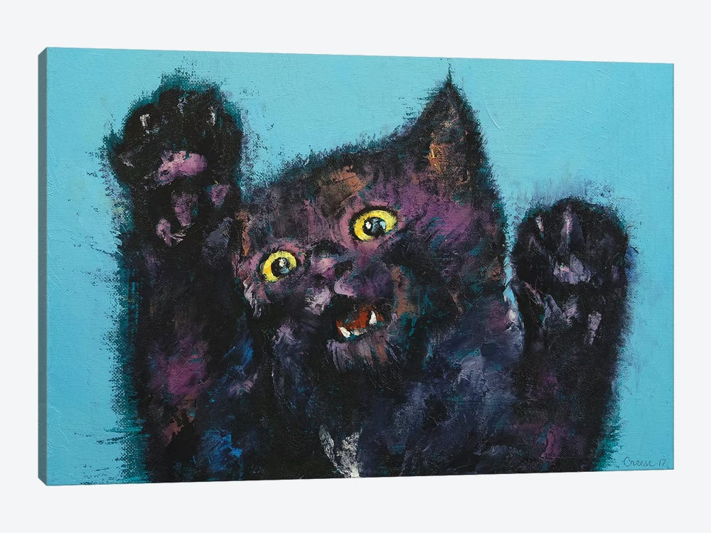 Ninja Kitten  by Michael Creese 1-piece Canvas Art