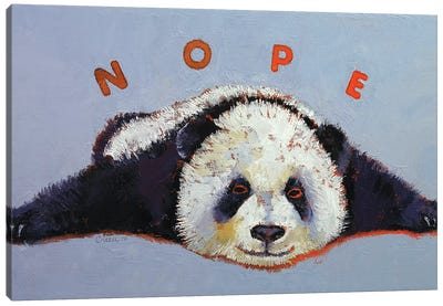 Nope  Canvas Art Print