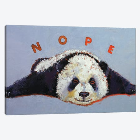 Nope  Canvas Print #MCR192} by Michael Creese Canvas Print