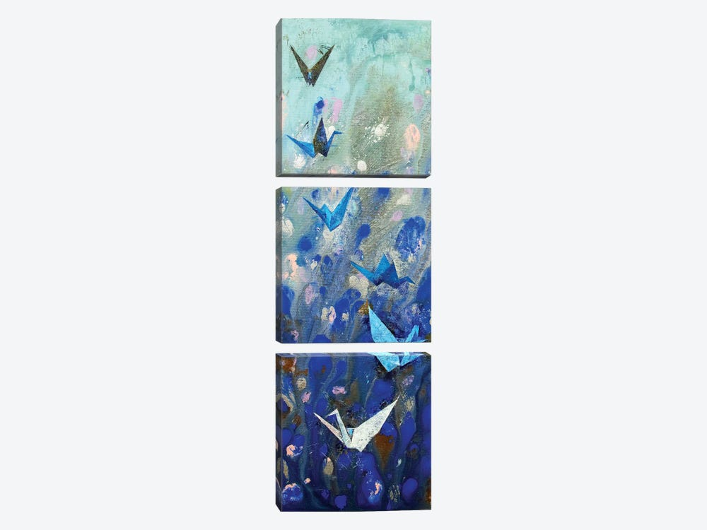 Origami Cranes  by Michael Creese 3-piece Canvas Artwork