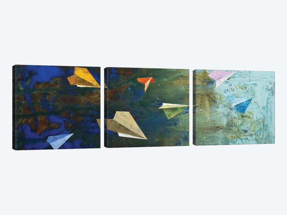 Paper Airplanes  by Michael Creese 3-piece Canvas Art Print