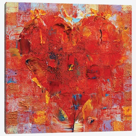 Patchwork Heart  Canvas Print #MCR197} by Michael Creese Canvas Art