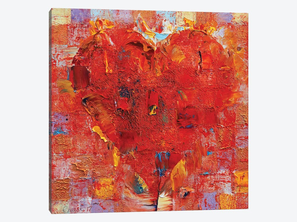 Patchwork Heart  by Michael Creese 1-piece Canvas Art