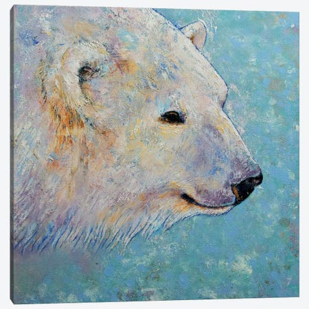Polar Bear  Canvas Print #MCR200} by Michael Creese Canvas Print