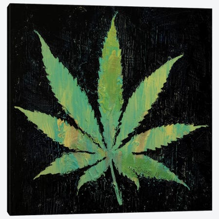 Pot Leaf  3-Piece Canvas #MCR201} by Michael Creese Canvas Print