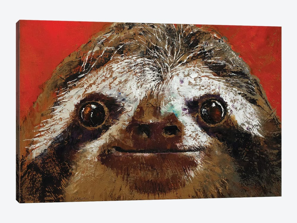 Sloth  by Michael Creese 1-piece Canvas Wall Art