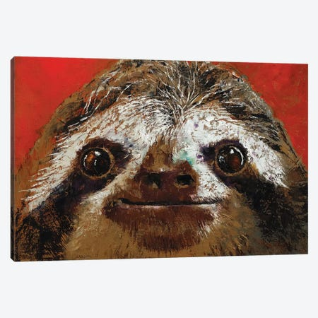 Sloth  Canvas Print #MCR208} by Michael Creese Canvas Print