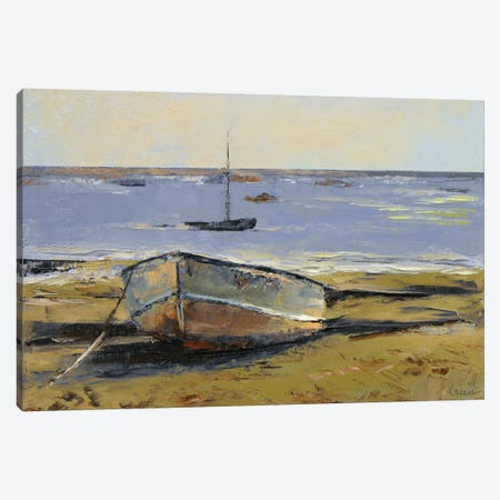 Boats In Provincetown Harbor Canvas Print #MCR20} by Michael Creese Canvas Wall Art
