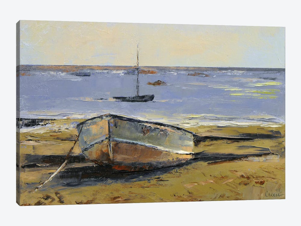 Boats In Provincetown Harbor by Michael Creese 1-piece Canvas Print