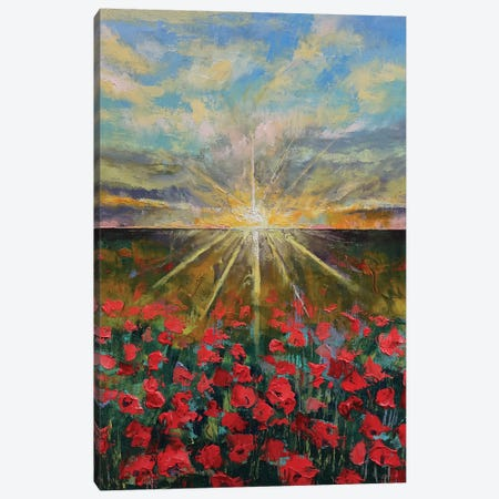 Starlight Poppies II Canvas Print #MCR210} by Michael Creese Canvas Wall Art