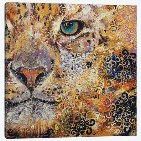 Leopard Dynasty Canvas Print #MCR217} by Michael Creese Canvas Print