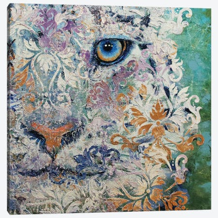 Royal Snow Leopard Canvas Print #MCR218} by Michael Creese Canvas Art
