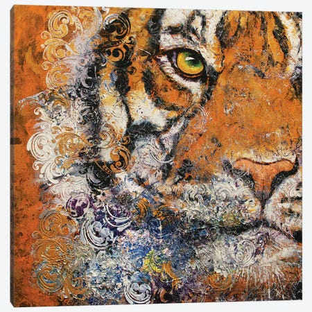Royal Tiger Canvas Print #MCR219} by Michael Creese Canvas Art