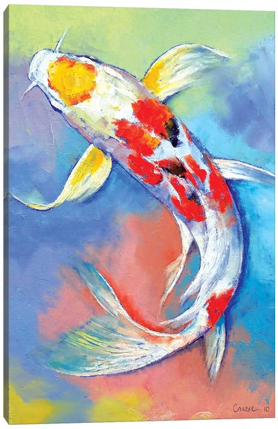 Butterfly Koi Fish Canvas Print #MCR21