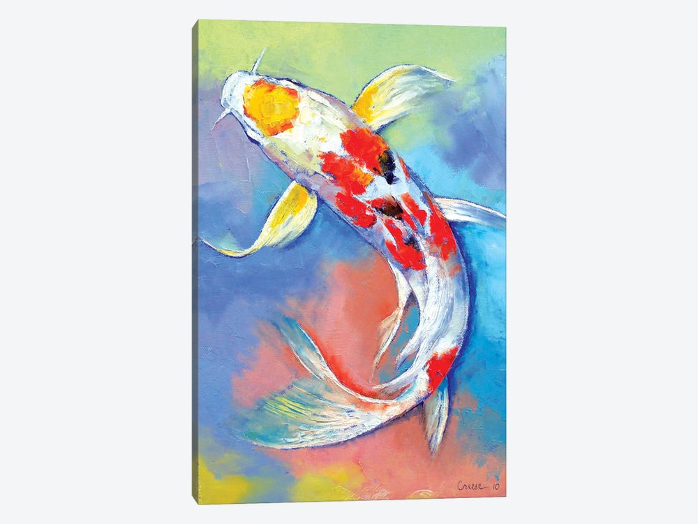 Butterfly Koi Fish by Michael Creese 1-piece Canvas Artwork