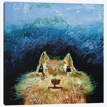 Chipmunk Canvas Print #MCR223} by Michael Creese Canvas Art Print