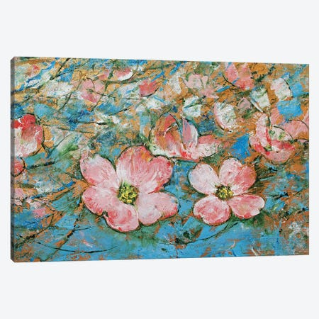 Dogwood Flowers Canvas Print #MCR225} by Michael Creese Canvas Artwork