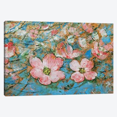 Dogwood Flowers 3-Piece Canvas #MCR225} by Michael Creese Canvas Artwork