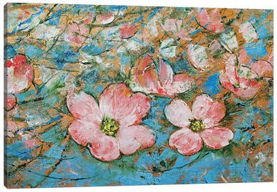 Dogwood Flowers Canvas Art Print