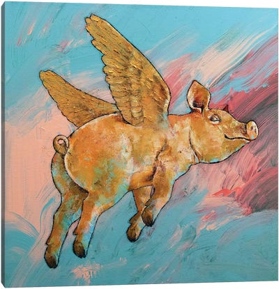 Flying Pig Canvas Art Print