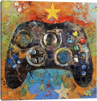Game Controller Canvas Art Print