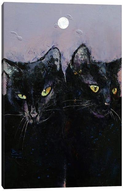 Gothic Cats Canvas Art Print