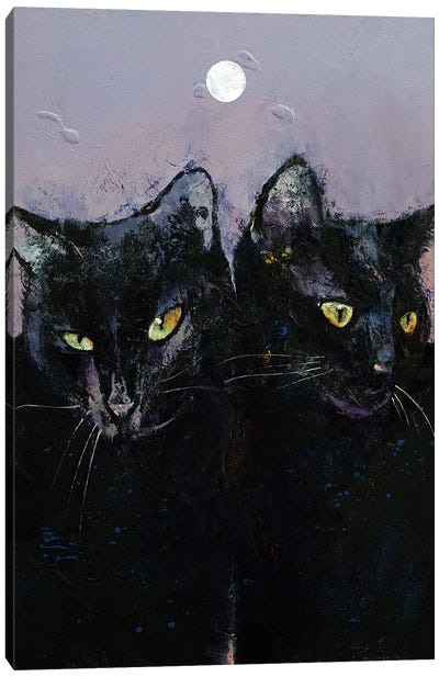 Gothic Cats Canvas Art Print