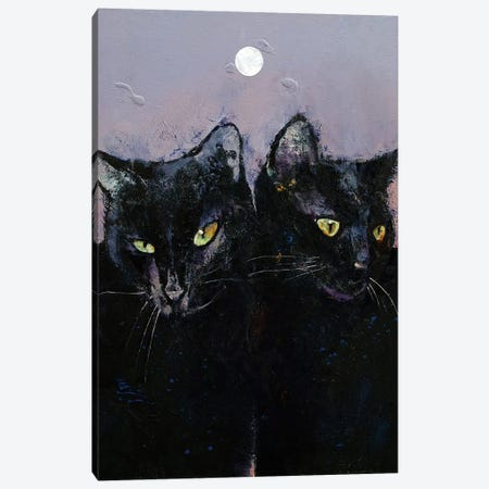 Gothic Cats 3-Piece Canvas #MCR228} by Michael Creese Canvas Art Print
