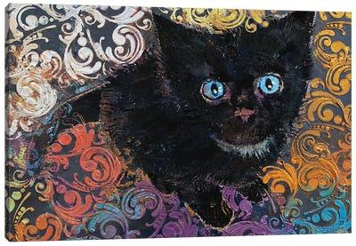 Little Black Kitten Canvas Art Print
