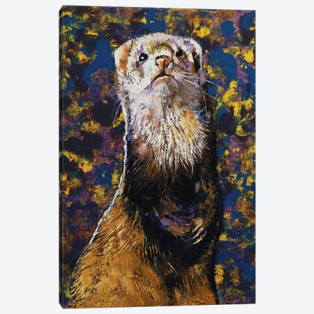 Regal Ferret 3-Piece Canvas #MCR232} by Michael Creese Canvas Artwork