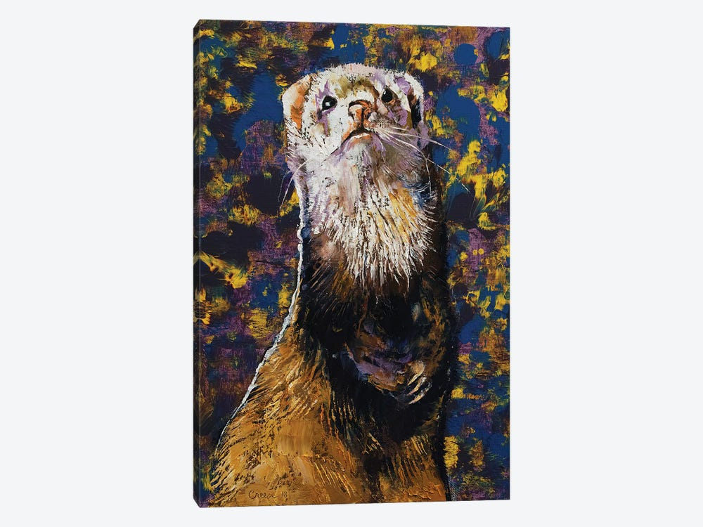Regal Ferret by Michael Creese 1-piece Canvas Art Print