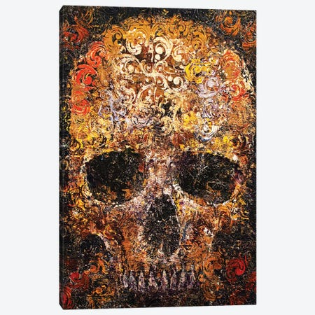 Textured Skull Canvas Print #MCR235} by Michael Creese Canvas Print