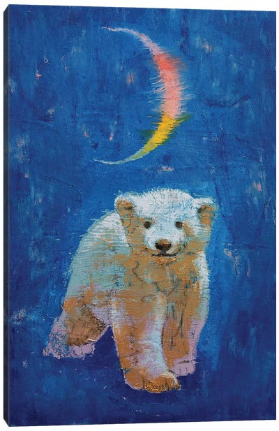 Polar Bear Cub Canvas Art Print
