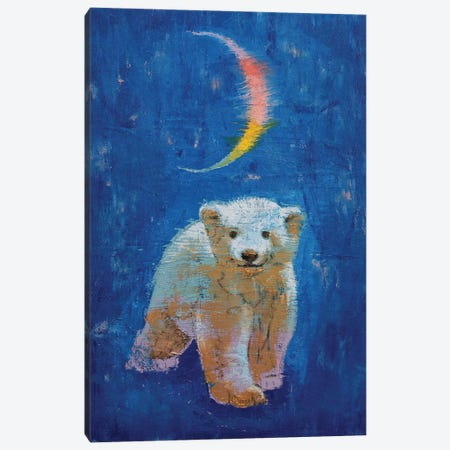 Polar Bear Cub Canvas Print #MCR237} by Michael Creese Art Print