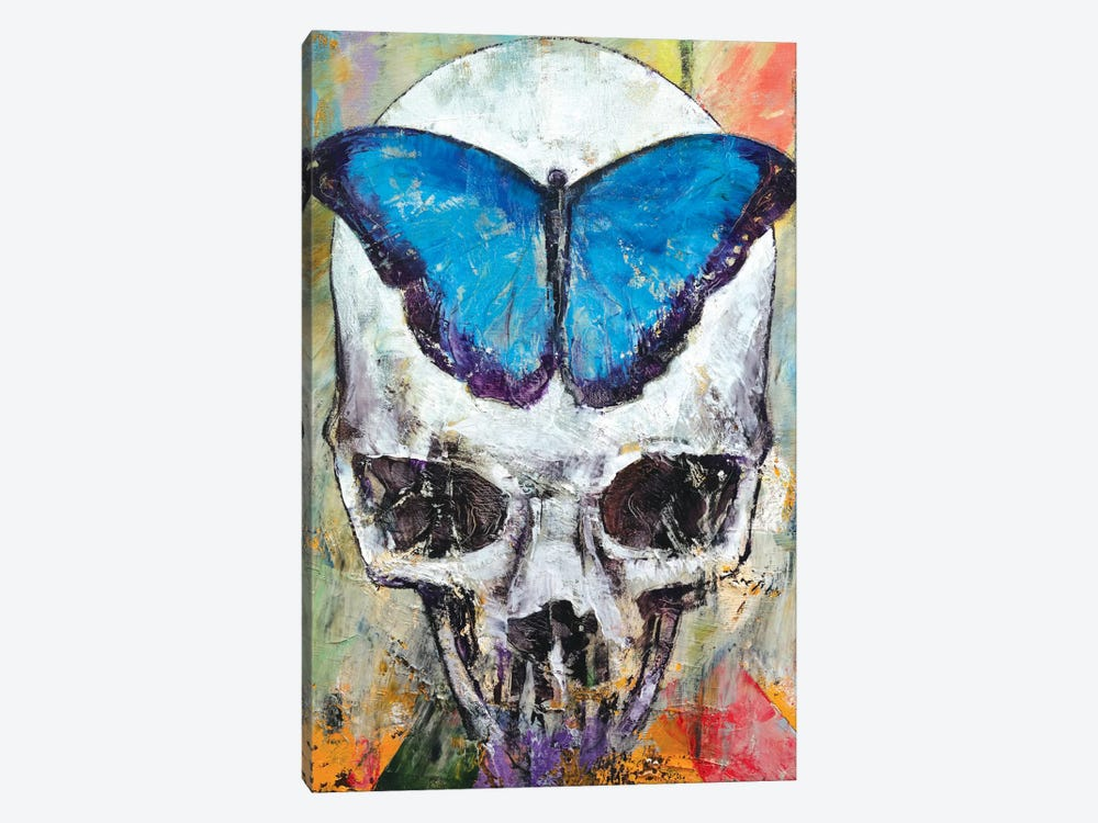 Butterfly Skull by Michael Creese 1-piece Canvas Wall Art