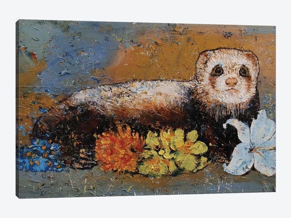 Ferret Splendor by Michael Creese 1-piece Canvas Print