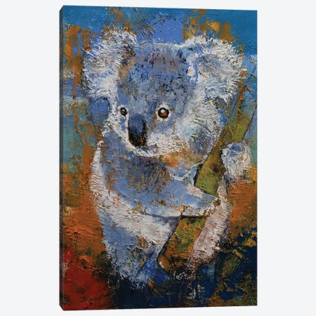 Koala 3-Piece Canvas #MCR242} by Michael Creese Canvas Print