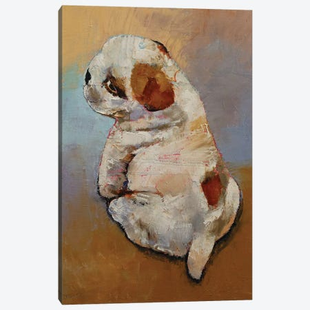 Naughty Puppy Canvas Print #MCR243} by Michael Creese Canvas Print