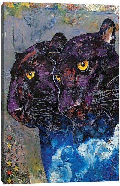 Black Panthers Canvas Art Print