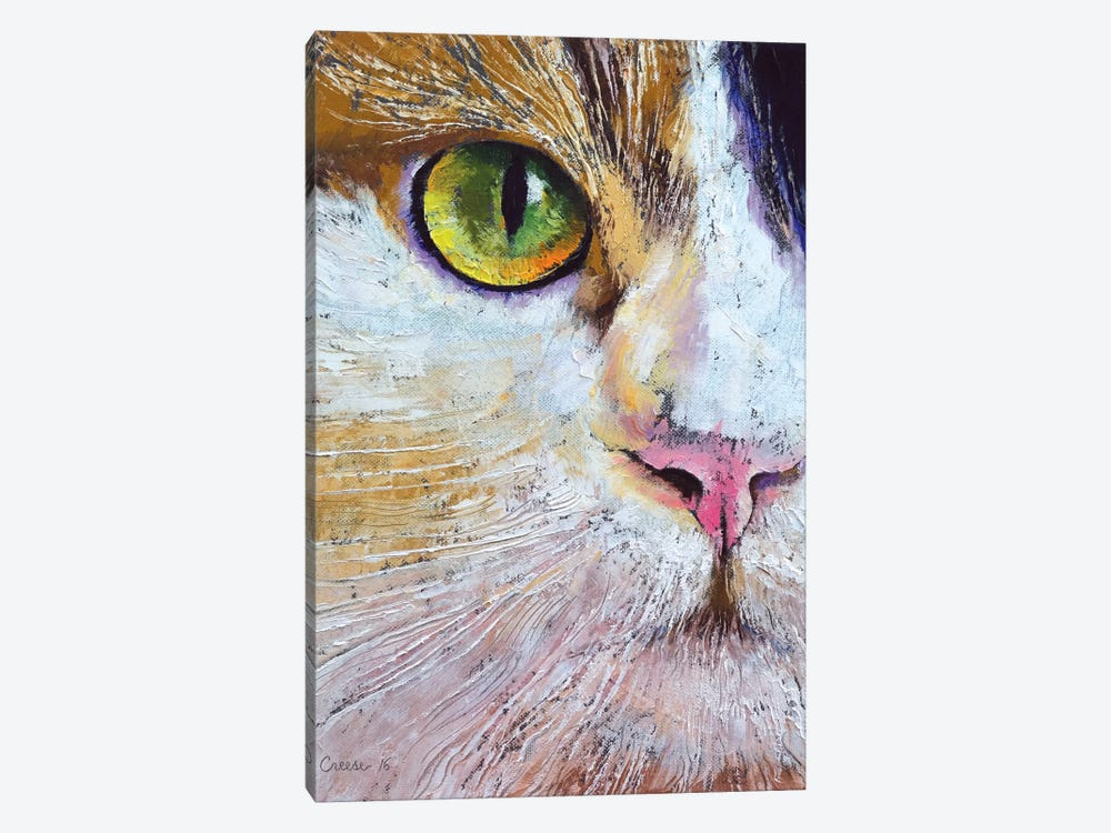 Calico Cat by Michael Creese 1-piece Canvas Art Print